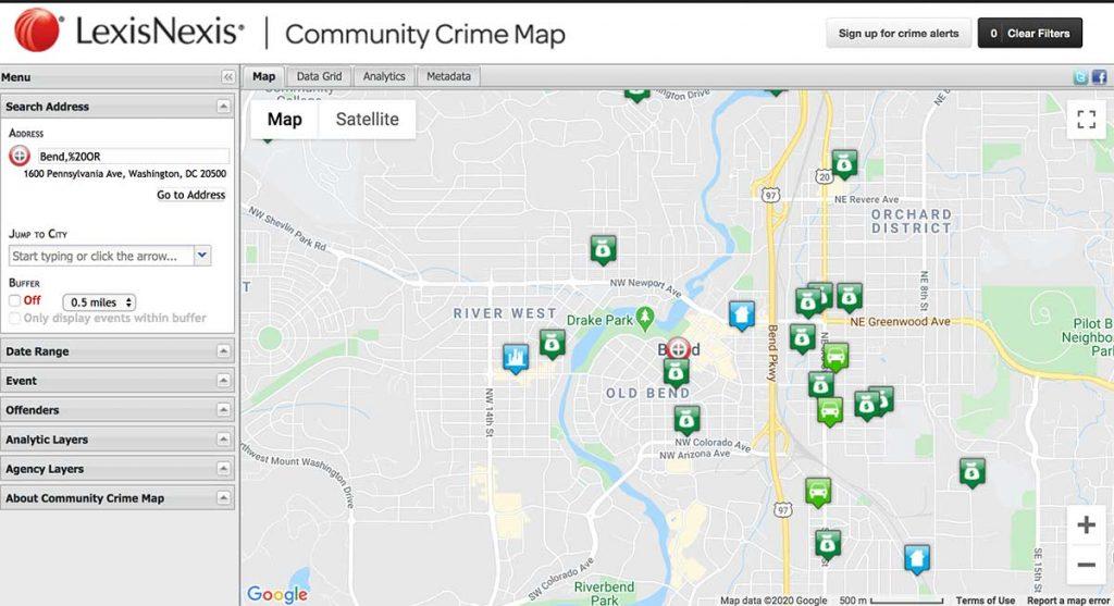 LexisNexis Community Crime Map