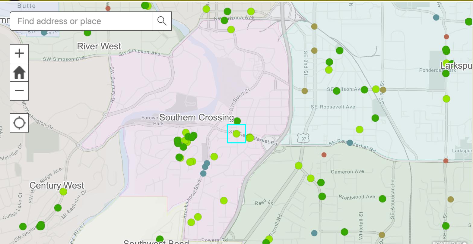 Southern Crossing Traffic Concerns - NSSP screenshot