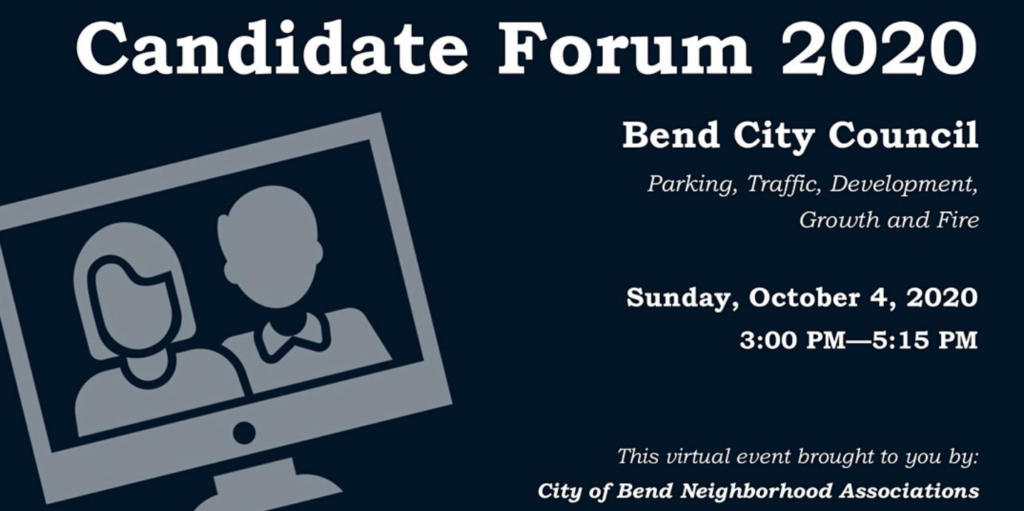 Bend City Council Candidate Forum 2020 - Sun, Oct 4, 2020