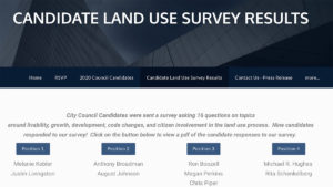 Candidate Land Use Survey Results